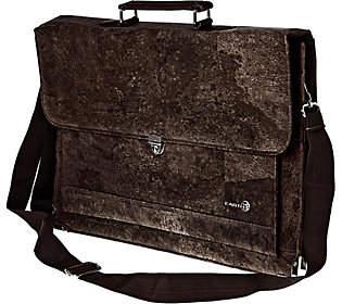 Earth Cork Faro Briefcase, Brown