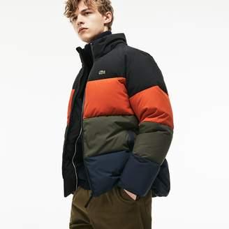 Lacoste Men's Detachable Hood Quilted Water-Resistant Taffeta Jacket