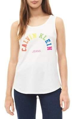 Calvin Klein Jeans Rainbow Cotton Tank Top