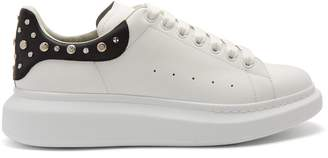 Alexander McQueen Raised-sole low-top embellished leather trainers