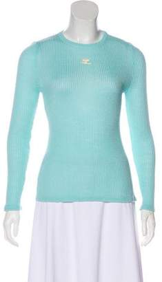 Courreges Long Sleeve Knit Top