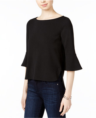 Bar III Textured Bell-Sleeve Top, Only at Macy's $34.50 thestylecure.com
