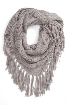 Women's Bp. Cable Knit Triangle Scarf $29 thestylecure.com