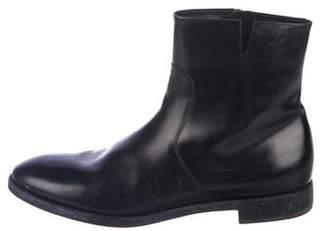 Salvatore Ferragamo Leather Zip Ankle Boots