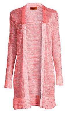 Missoni Women's Striped Knit Open Front Cardigan