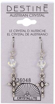 Crystallite Destine Cross Dangle Earrings