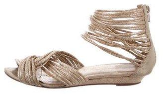 Loeffler Randall Metallic Multistrap Sandals