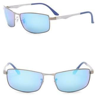 Ray-Ban 61mm Rectangle Polarized Sunglasses