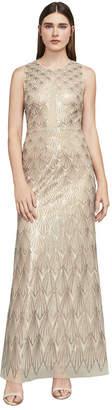BCBGMAXAZRIA Patti Sleeveless Sequin Gown