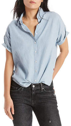 Levi's Harper Linen-Blend Button-Down Shirt