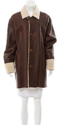UGG Australia Long Leather Coat $480 thestylecure.com