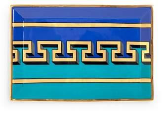 Jonathan Adler Mykonos Rectangle Tray - Blue