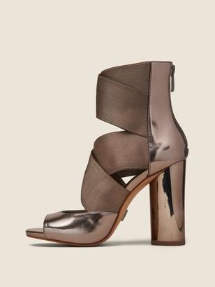 DKNY Briana Multi-Strap Heeled Leather Sandal