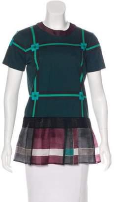 Prada Check Short Sleeve Top