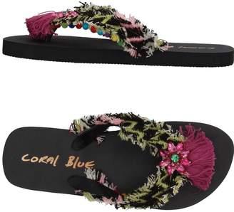 Coral Blue Toe strap sandals - Item 11385715AG