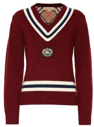 Burberry Appliquéd wool and cashmere sweater