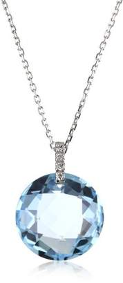 Suzanne Kalan The Classics Round Topaz Diamond Loop Necklace