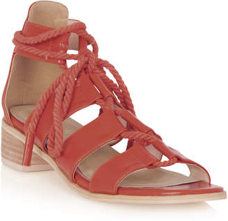 Long Tall Sally LTS Frieda Rope Trim Heel Sandal