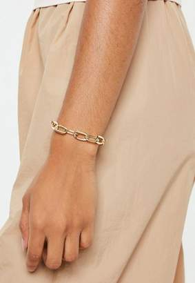 Missguided Gold Look Chunky Chain Bracelet