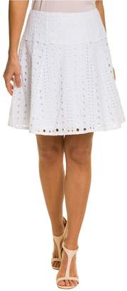Le Château Women's Eyelet Cotton Blend Full Skirt
