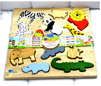 Wild Animal Puzzle and Play Set