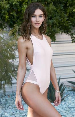 LA Hearts Mesh Inset One Piece Swimsuit $49.95 thestylecure.com