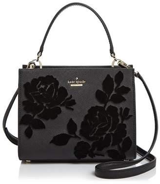 Kate Spade Cameron Street Sarah Velvet Roses Small Leather Crossbody - 100% Exclusive