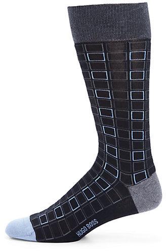 HUGO BOSS Square Pattern Dress Socks
