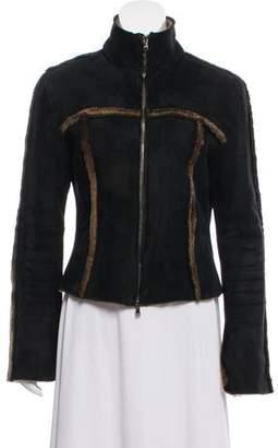 Patrizia Pepe Suede Fur-Accented Jacket