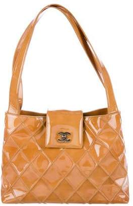 Chanel Patent Diamond Quilted Tote