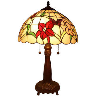 Tiffany & Co. AMORA Amora Lighting AM063TL14 Style Floral Table Lamp 22 Inches Tall