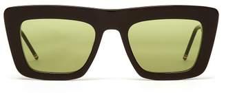 Thom Browne D Frame Black Sunglasses - Mens - Black