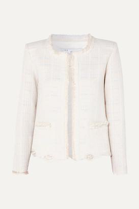 IRO Wondrous Distressed Cotton-blend Bouclé Jacket - Ecru