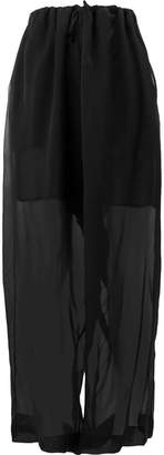 Masnada sheer wide leg trousers