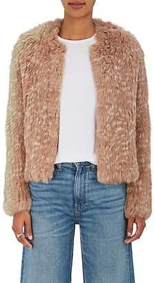 Ulla Johnson Women's Iris Rabbit Fur Crop Jacket