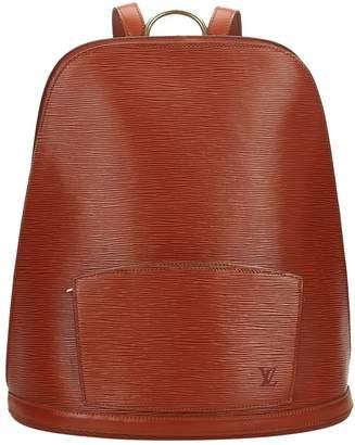 Louis Vuitton Vintage Ellipse Brown Leather Backpacks