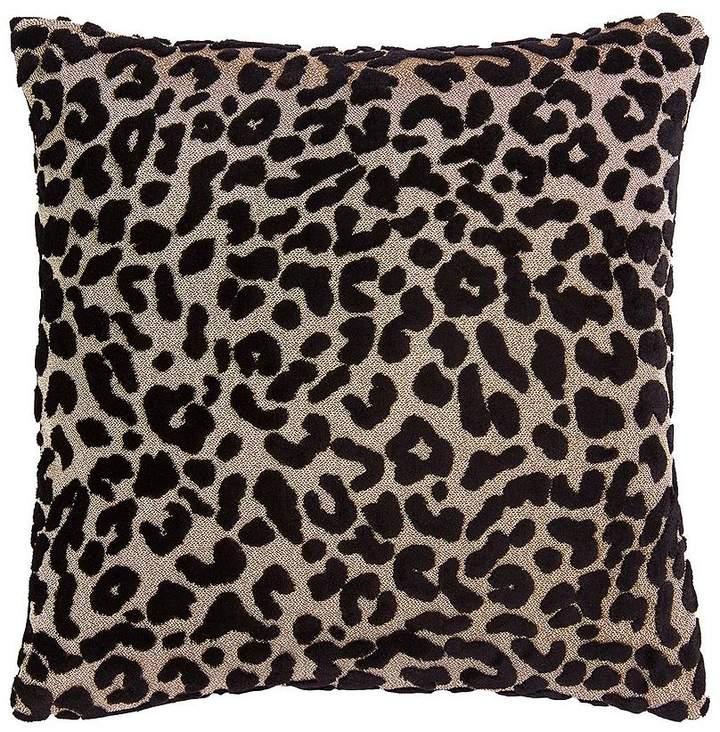 Myleene Klass Home Leopard Cushion - Black