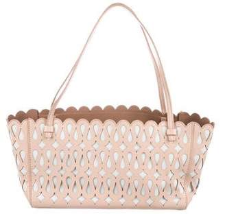 Alaia Laser-Cut Leather Shoulder Bag