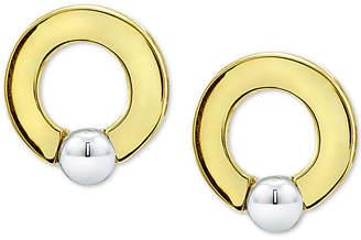 """Giani Bernini Small Two-Tone Doorknocker Stud Earrings in Sterling Silver & 18k Gold-Plate, 0.6"""""""