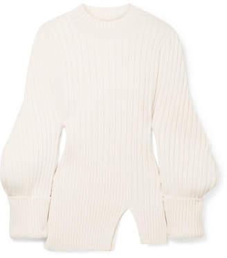 Jacquemus Pablo Ribbed Wool Sweater - Ecru