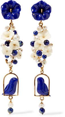 Of Rare Origin - Nesters Gold Vermeil Multi-stone Earrings - Blue