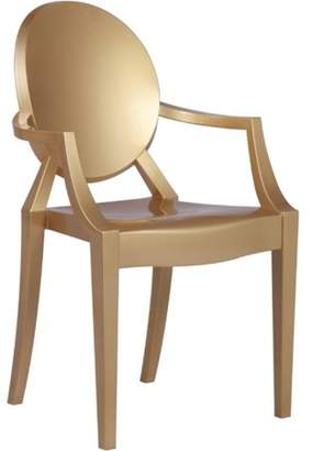 clear Fine Mod Imports Arm Chair-Color:Gold,Style:Contemporary/Modern