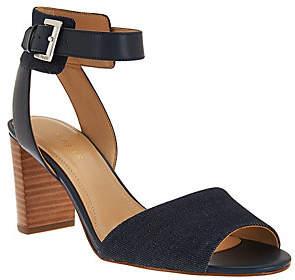 Marc Fisher Ankle Strap Block Heel Sandals -Genette