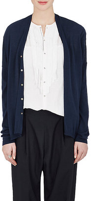 Pas de Calais Women's Fine-Gauge Knit Cotton-Silk Cardigan $265 thestylecure.com