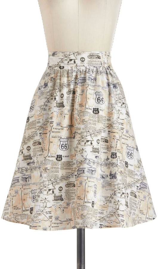 Back to Your Routes Skirt
