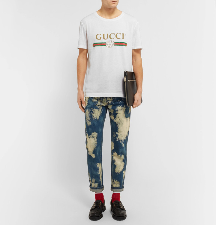 Gucci Slim-Fit Printed Cotton-Jersey T-Shirt 5
