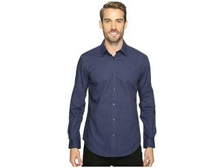 Calvin Klein Slim Fit Long Sleeve Infinite Cool Button Down Check Shirt