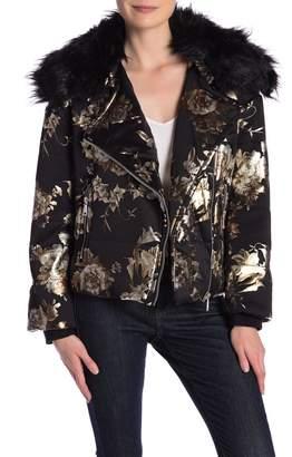 Catherine Malandrino Long Sleeve Faux Fur Jacket