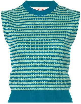 Marni sleeveless patterned knit top