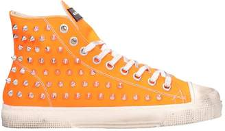 Gienchi Orange Rubber Jean Michel High Sneakers